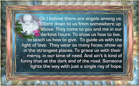 ALABAMA - ANGELS AMONG US LYRICS