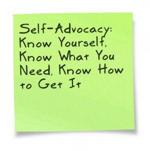 Self Advocacy PostIt